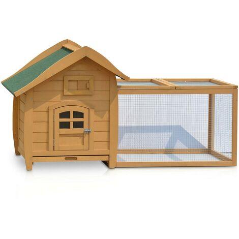 Cage Clapier Enclos lapin Exterieur en Bois Haute Qualite pour lapins 155 x 87 x 83 cm.Modele 045 Oreille Longue