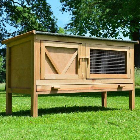 Cage Clapier Enclos lapin Exterieur en bois Haute Qualite pour lapins petits animaux.Modele 024 Hasi