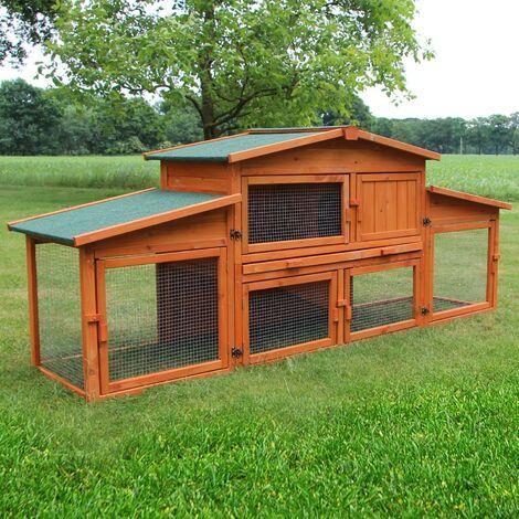 Cage Clapier Enclos lapin pour lapins.Modele 043 etable du roi