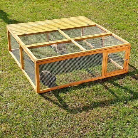 Cage Clapier Poulailler Poulets Bois L 150 X P 150 X H 50 Cm