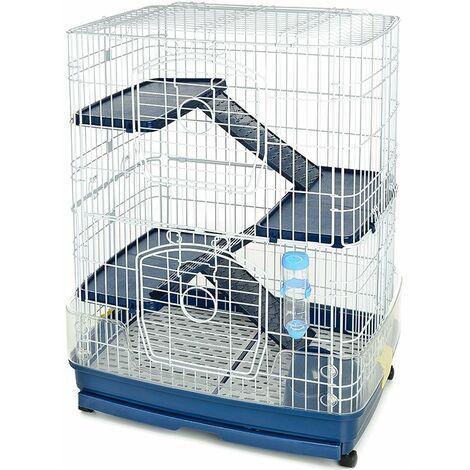Cage complète à 3 étages pour lapins de différentes tailles Ferribiella