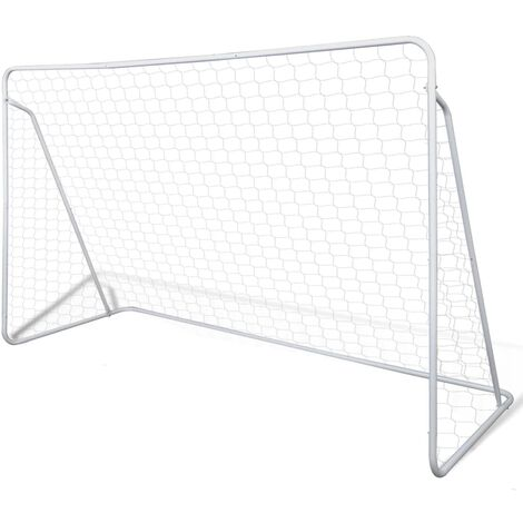 Cage de but de football 240 x 90 x 150 cm Acier