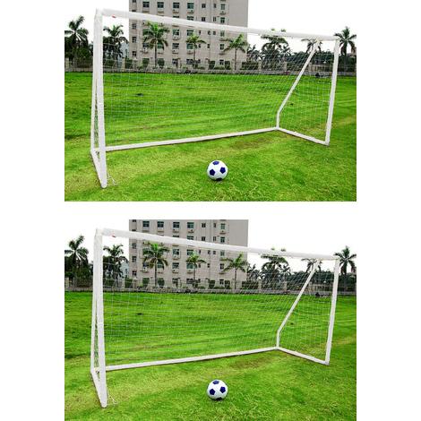 16a8cd2438936 240 x 90 x 150 cm cage de football blanche But de foot enfant avec cadre en  metal