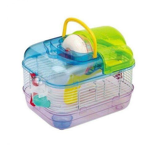Cage de hamster multicolore