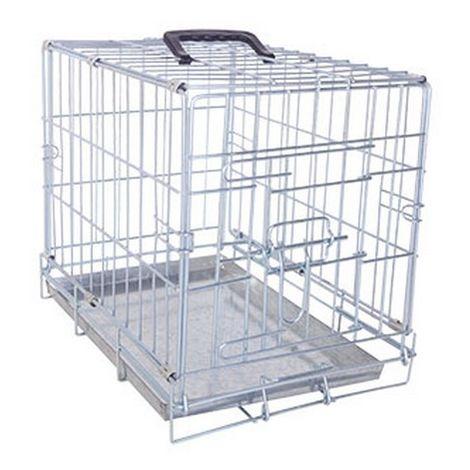 Cage de transport en métal pliante pour chien et chat - 1 porte Désignation : Cage de transport métal pliantes - 1 porte | Type : T1 | Taille : Cage de transport métal pliantes - 1 porte FOT 3921