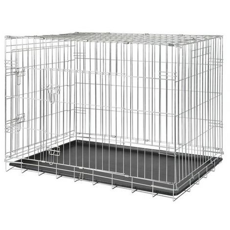 Cage de transport métal pliante - 2 portes Désignation : Cage de transport métal pliante - 2 portes | Type : T3 | Taille : Cage de transport métal pliante - 2 portes FOT 3923