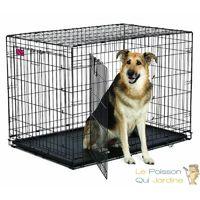 Cage De Transport, Pliable, Métallique, Pour Chiens, Chats, 108 cm