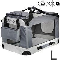 Cage de transport pliable pour chiens chats animaux CADOCA Taille L boite box