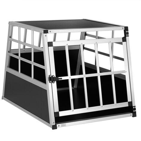 Cage de transport pour animaux domestiques noir argent caisse chien boîte grille