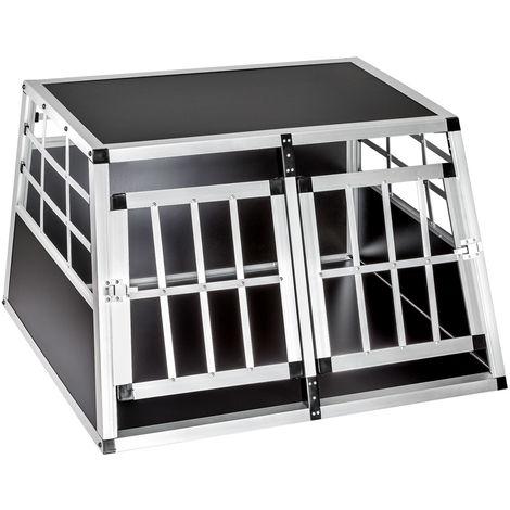 Cage de transport pour chien double dos droit