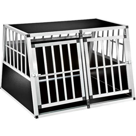 Cage de transport pour chien double dos incliné