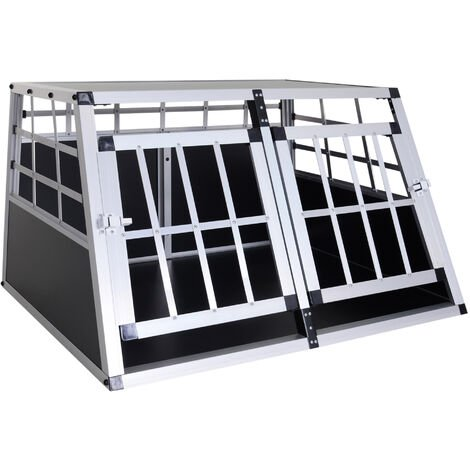 """main image of """"Cage de transport pour chien en aluminium xl noir 89 x69x50 cm - Noir"""""""