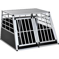 bdc3ba97914b63 Cage de transport pour chien en aluminium XXL 104L x 91l x 69H cm noir