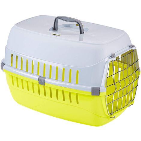 Cage de transport pour chien ou chat, taille: 37 x 55 x H 35 cm - couleur aléatoire.