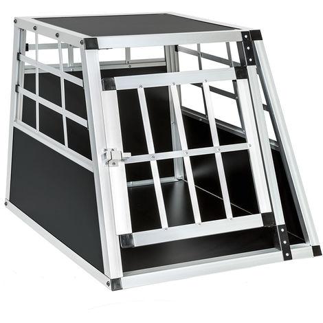 Cage de transport pour chien simple dos droit