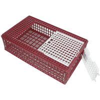 Cage de transport pour volailles PVC - 95 x 57 x 24 cm