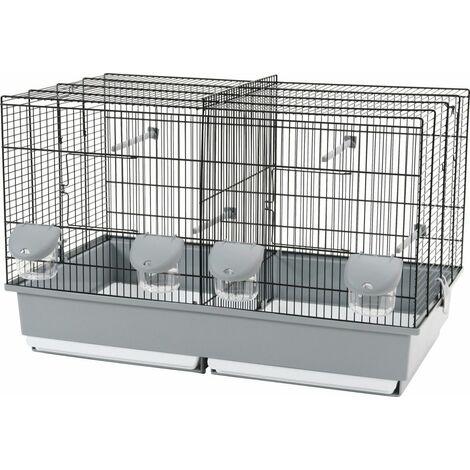 Cage elevage 67 noir / gris