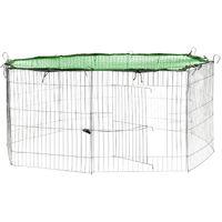 Cage, Enclos d'Extérieur Grillagé + 1 Filet de Protection