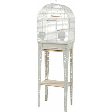 Cage et meuble CHIC PATIO. taille S. 38 x 24.5 x hauteur 123 cm. couleur blanc.