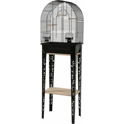 Cage et meuble CHIC PATIO. taille S. 38 x 24.5 x hauteur 123 cm. couleur Noir.
