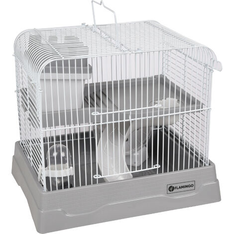 Cage for dinky hamster - grey colour, size: 30 x 23 x 26 cm