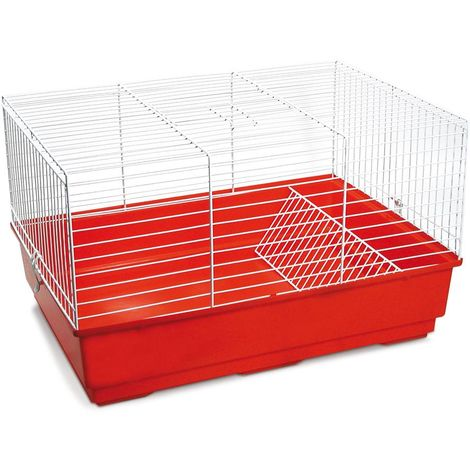 Cage for guinea pigs and rabbits model ROGER with white grid
