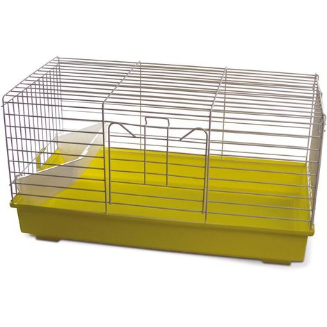 Cage for guinea pigs and rabbits with white grid
