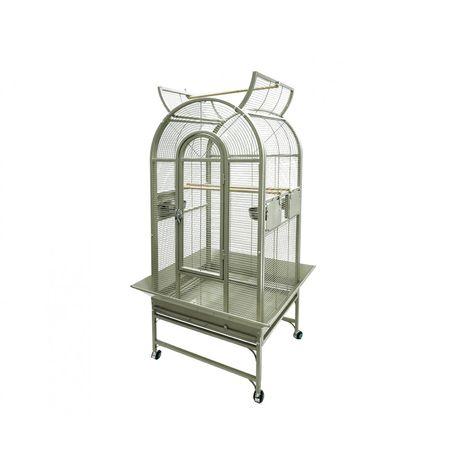 Cage gde perruche&perroquet myra beige 66x56x160cm