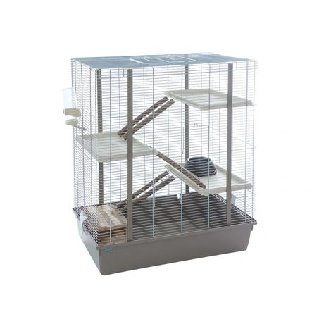 Cage grand rongeur cody argent 75x47x89cm