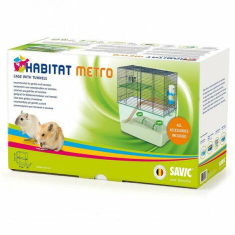 Cage Habitat Metro Savic pour gerbilles et hamsters