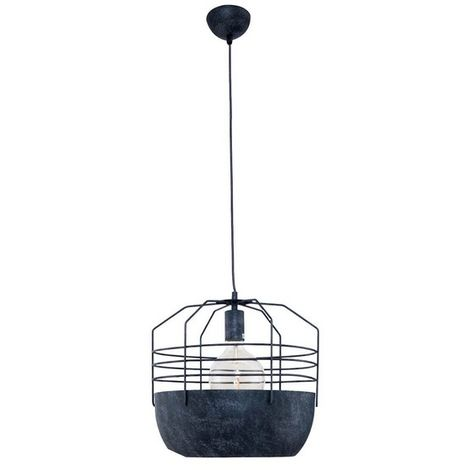 Cage Hanging Lamp - Ceiling light - for Wall - Black Made of Metal, 22 x 22 x 120 cm, 1 x E27, 40W