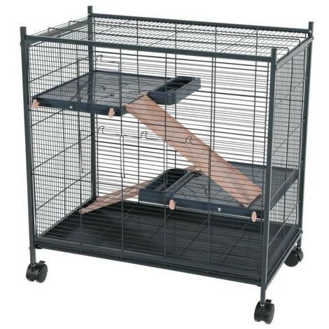 Cage indoor 2 mini loft couleur rose. dimension interieur 67.5 x 39 x 58 cm. pour les petits mammifères