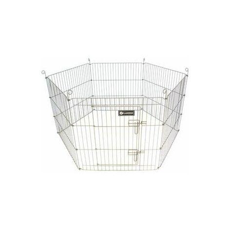 Cage lapin ext. hexagon taupe 60x60cm x6pcs