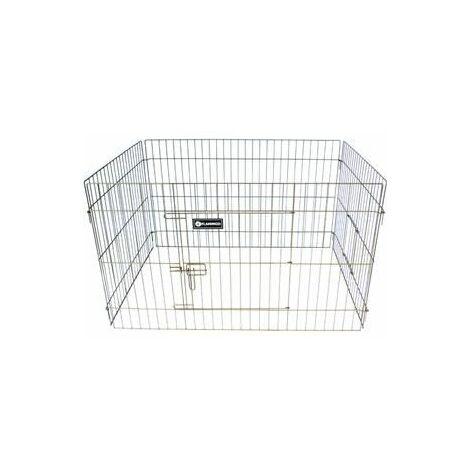 Cage lapin ext. quadri taupe 100x70x60cm