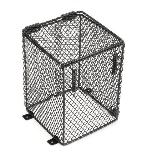 Cage Mesh Cage Lamp Bulb R & Reptile Reflector & Lighting Support Anti-Hot 12X12X16Cm