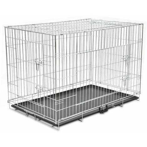 Cage metallique et pliable pour chiens XXL