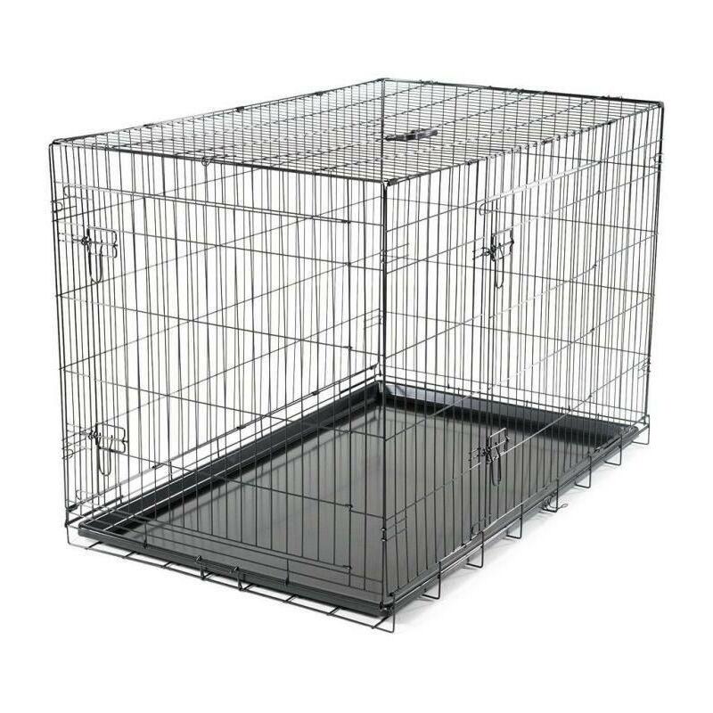 Cage métallique pliable Classic - 122 x 79 x 86 cm - Noir - Pour chien - Vadigran