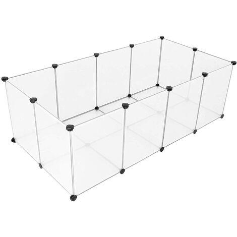 Cage modulable cochon d'inde hamster lapin rongeur panneaux transparents - Transparent