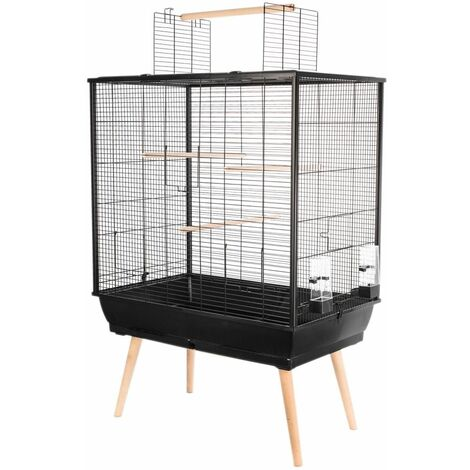 Cage neo jili oiseau noir h80