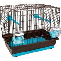 Cage oiseau buru br/turq 40x25x35cm