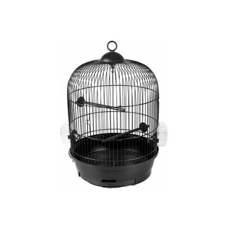 Cage oiseau erla 1 noir 34x34x52cm