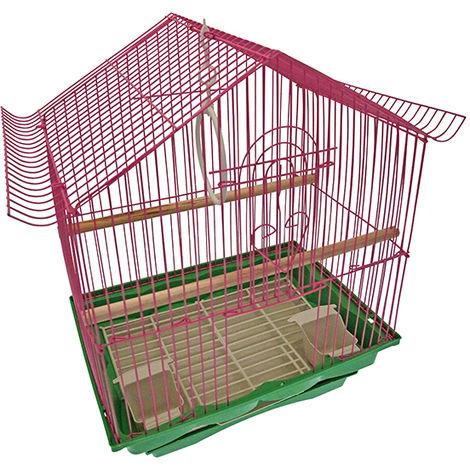 Cage oiseaux - rose