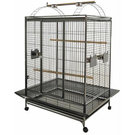 Cage perroquet evita3gris martel.121x96x171cml 2bx