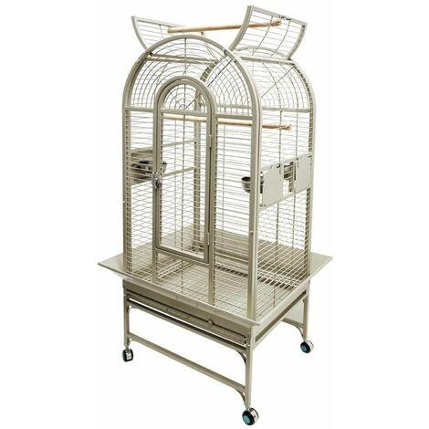 Cage perroquet myro beige 66x56x160cm