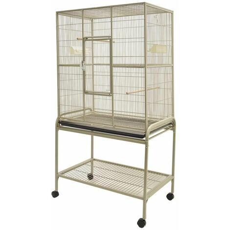 Cage perroquet Volare beige 81x54x157cm