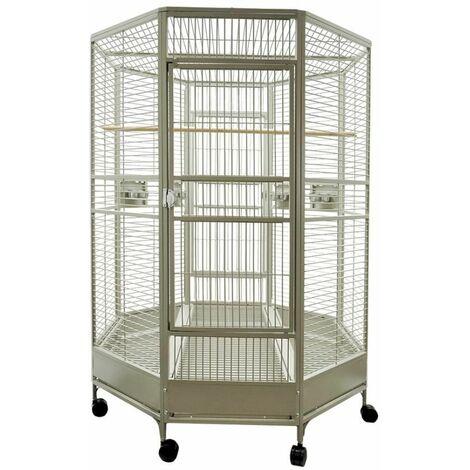 Cage perroquet Zany beige 132x132x185cm L (3 Box)
