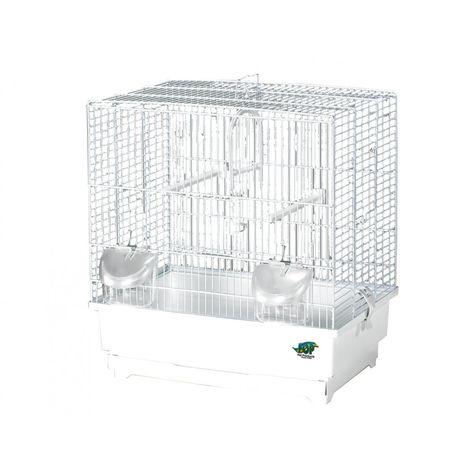 Cage petit oiseau Alfa 3 blanc 40 x27 x43cm S