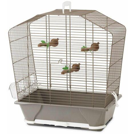Cage petit oiseau camille 50 taupe 72x39x74cm