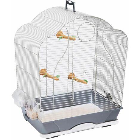 Cage petit oiseau Isabelle40 argt 47,5x32,5x60cm S