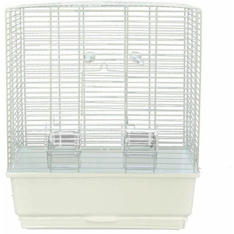 Cage petit oiseau katia noir/sable 41x31x50cm